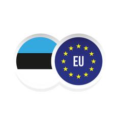 estonia european union badge flag vector image