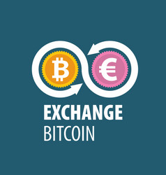 Exchange bitcoin for money vector