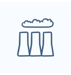 Factory pipes sketch icon vector image