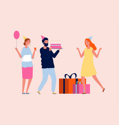 family birthday party parents congrats adult vector image