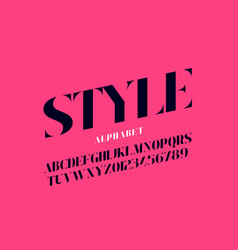 fashion industry style font design alphabet vector image