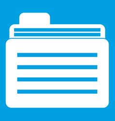 File folder icon white vector