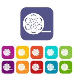 Film icons set vector