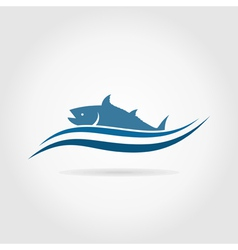 Fish an icon2 vector image