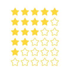 five star rating feedback bar for customers vector image