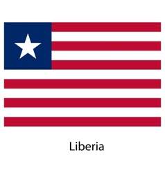 Flag of the country liberia vector