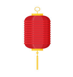 Flat design chinese new year red paper lantern vector