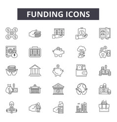 funding line icons for web and mobile design vector image