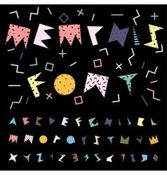 Funky alphabet vector