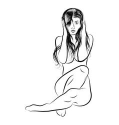 girl 10 vector image