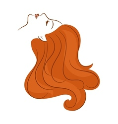 Girl with long hair vector image