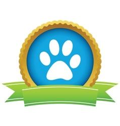 Gold animal logo vector
