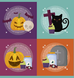 Halloween celebration design vector
