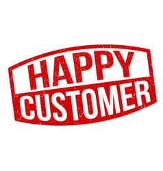 happy customer grunge rubber stamp vector image