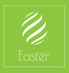 happy easter greeting card with egg in flat design vector image