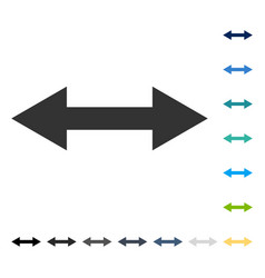 Horizontal flip icon vector