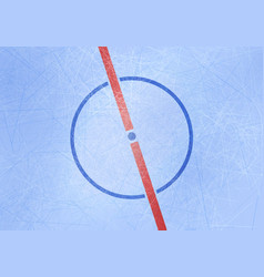 Ice hockey rink background center ice vector