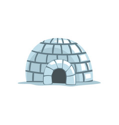 Igloo eskimo house on a white vector