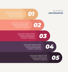 infographics 5 step design vector image