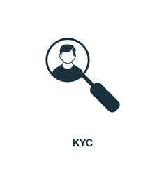 kyc icon creative element design from fintech vector image