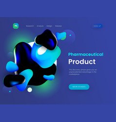landing page template with a blue background color vector image