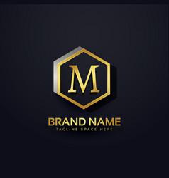 Letter m logo premium design vector
