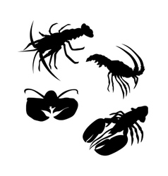 Lobster silhouettes vector