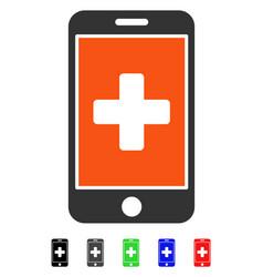 Mobile medicine flat icon vector