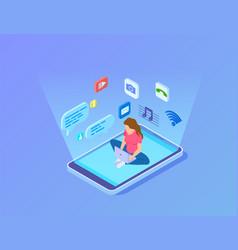modern entertainment innovative digital center vector image