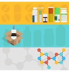 modern flat medicine backgrounds set vector image