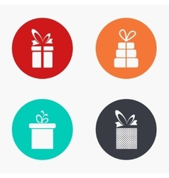 modern gift colorful icons set vector image