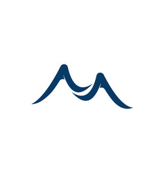 mountain icon logo business template vector image
