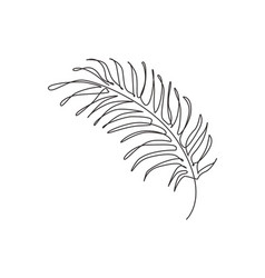 one continuous line drawing tropical palm faux vector image
