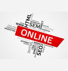 Online word cloud tag cloud graphics vector