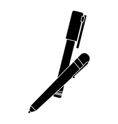 Pen and marker icon image vector