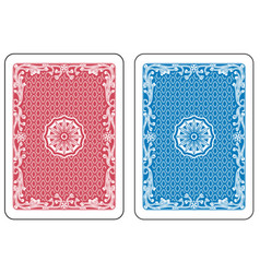 Playing cards back vector