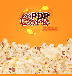 Realistic popcorn background cinema fast vector