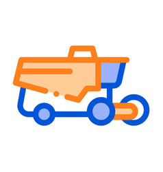 reaping harvester vehicle thin line icon vector image