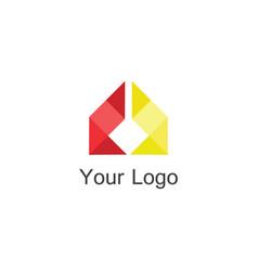 ribbon company logo vector image