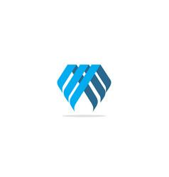 shape line geometry company logo vector image