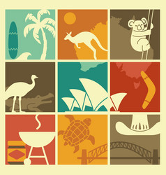 symbols australian culture and nature vector image