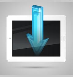Tablet downloading content vector