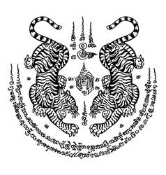 Tattoo Thai Style 3 vector image