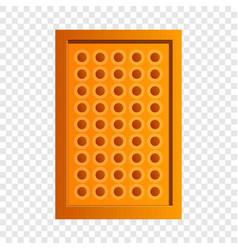 tea biscuit icon cartoon style vector image