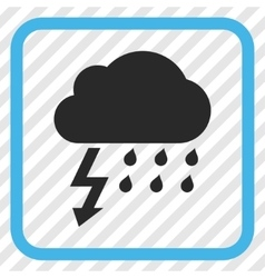Thunderstorm icon in a frame vector