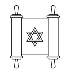 torah papyrus icon outline style vector image