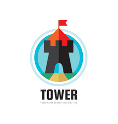 tower - concept logo template vector image