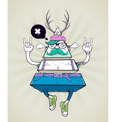 Triangle hipster bizarre character vector
