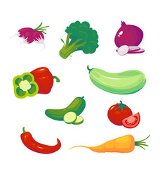 vegetables food vector image