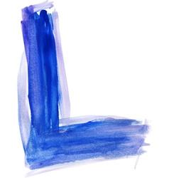 Watercolor Font LETTER L vector image